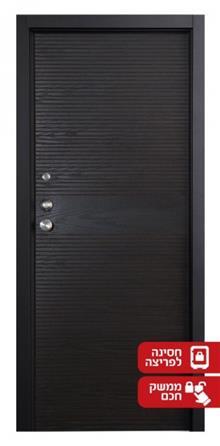 דלת מעוצבת שחורה