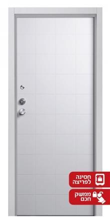 דלת מעוצבת לבנה