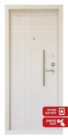 דלת מעוצבת בלבן