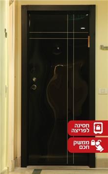 דלת שחורה מבריקה