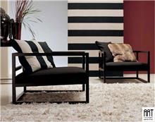 כורסא אלגנטית שחורה