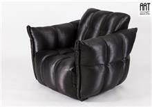 כורסא מעוצבת שחורה