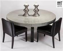 שולחן אפור עגול