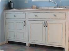 ארון מטבח בלבן