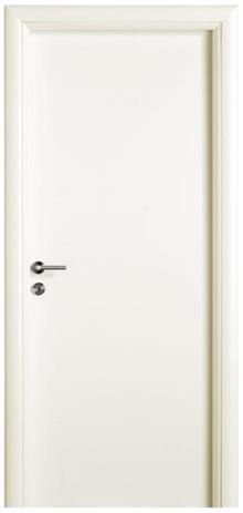 דלת חלקה שמנת