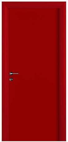 דלת אדומה חלקה