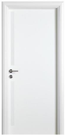 דלת עם פסי מתכת