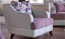 אלבור רהיטים - כורסא ורוד-לבן
