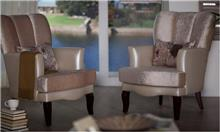 אלבור רהיטים - כורסה מוזהבת