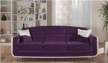אלבור רהיטים - ספה סגולה תלת מושבית