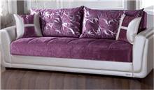 אלבור רהיטים - ספה סגול לבן