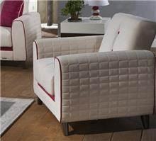 אלבור רהיטים - כורסא לבנה בעיצוב אלגנטי