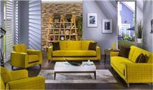 אלבור רהיטים - ריהוט צהוב לסלון