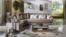 ספה פינתית בהירה - אלבור רהיטים