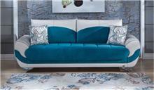 אלבור רהיטים - ספה טורקיז לבן