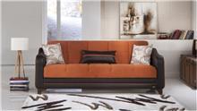 ספה כתום חום - אלבור רהיטים