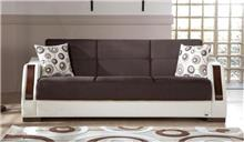 אלבור רהיטים - ספה חומה נפתחת 3 מושבים