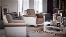 אלבור רהיטים - כורסא שמנת לבן