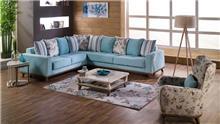 ספה פינתית בתכלת - אלבור רהיטים