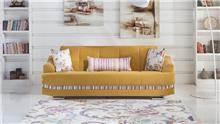 ספה צהובה מעוצבת