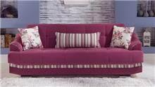 ספה תלת מושבית ורודה