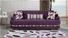 ספה תלת מושבית סגולה