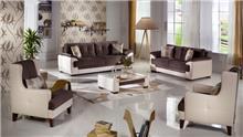 אלבור רהיטים - סלון חום מרווח