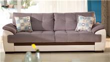 אלבור רהיטים - ספה בורוד ושמנת