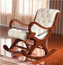 כיסא נדנדה מעץ מלא - כסא נדנדה
