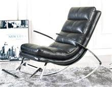 כורסה מעוצבת מעור - כסא נדנדה