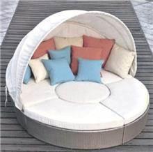כסא נדנדה - מיטת מרבץ עגולה