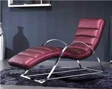 כורסת עור יוקרתית - כסא נדנדה