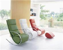 כורסאות עור מעוצבות - כסא נדנדה