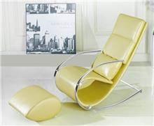 כורסא יוקרתית צהובה - כסא נדנדה