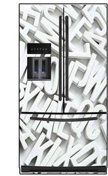 תמונת מגנט אותיות למקרר - FUNKYDOOR