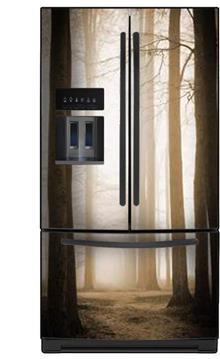 תמונת מגנט למקרר יער חום