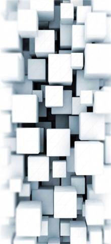 מגנט למקרר לבן ריבועים - FUNKYDOOR