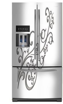 מגנט למקרר לבן מעוטר