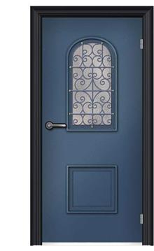ציפוי מגנטי לדלת כחול