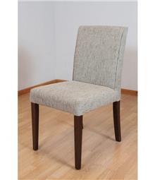 כסא אפור מרופד
