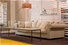 ספה תלת מושבית בד לבנה