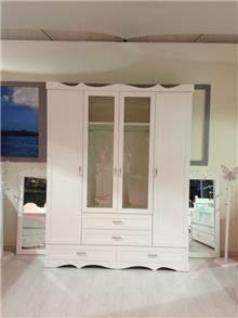 מיקול רהיטים - ארון לבן 4 דלתות