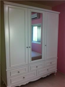 ארון 3 דלתות לבן - מיקול רהיטים