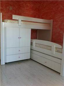 מיטת קומותיים לבנה