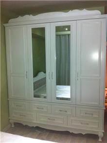 מיקול רהיטים - ארון לבן רחב
