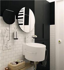 מראה עגולה לחדר האמבטיה
