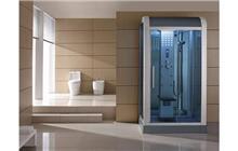מקלחון עיסוי עם מסגרת לבנה