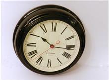 שעון עגול שחור
