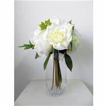 בוקט פרחים גדול לבן