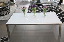רקפת ספיר R.H.S - שולחן סלון זכוכית לבן